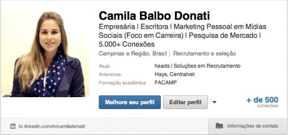 Perfil Camila